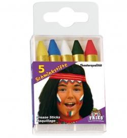 Schminkstifte für Fasching im 5er Set
