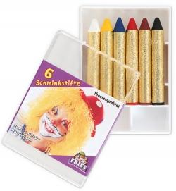 Schminkstifte für Fasching im 6er Set
