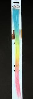 Haarsträhne Pastell-Farbverlauf, ca. 45 cm