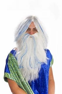Perücke und Bart im Set Poseidon