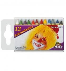 Schminkstifte für Fasching 12er Set