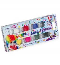 Aqua Schmink Set Fasching, 8 Farben incl Pinsel, 32g