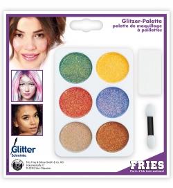 Schmink-Set Glitzerpalette Glitter im Set 6 Farben