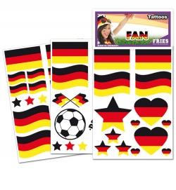 Deutschland Fan Tattoos Karte - diverse Designs