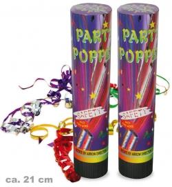 Party Popper, 2 Stück, ca. 21 cm Höhe
