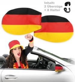 Deutschland FAN  Autospiegel Überzug im Set 2 Stk.