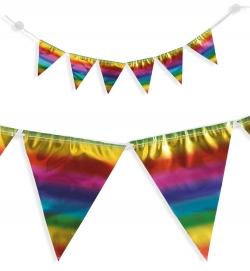 Wimpel Girlande Rainbow mit Saugnapf 100 cm lang