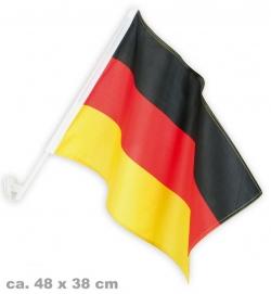 Autofahne Deutschland FAN, ca. 48 x 38 cm