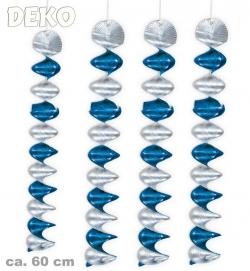 Rotorspirale - Spiral Girlande blau silber