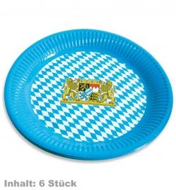 Teller Bayern, Inhalt: 8 Stück