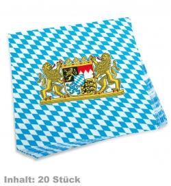 Servietten Bayern, Inhalt: 20 Stück