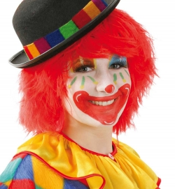 Perücke Clown rot