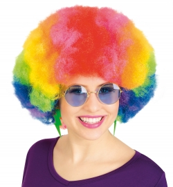 Perücke Afro Rainbow
