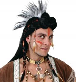 Perücke Indianer Irokese