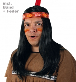 Perücke Indianer