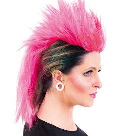 Perücke Irokese Pink