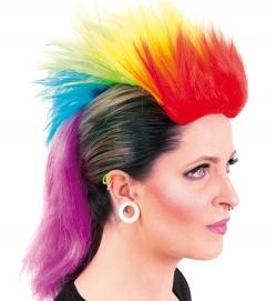 Perücke Irokese Regenbogen