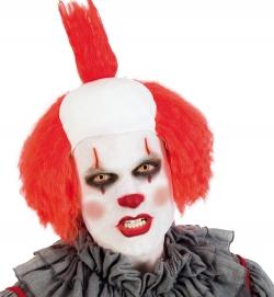 Perücke Clown mit Glatze, rot