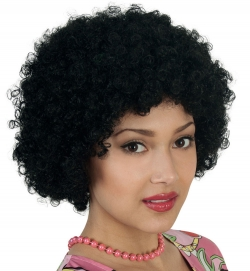 Perücke Hair, schwarz