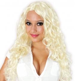 Lockenperücke blond