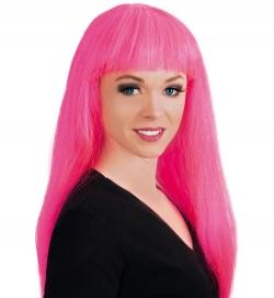 Perücke Lilo Neon, pink, ca. 60 cm Länge