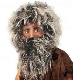 Perücke mit Bart Neandertaler