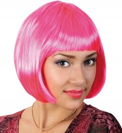 Perücke Lola neon, pink
