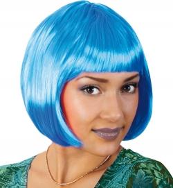 Perücke Lola neon, blau