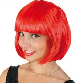 Perücke Lola neon, rot