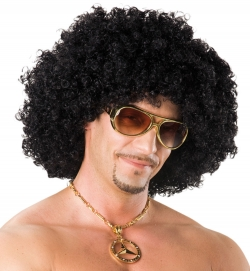 Perücke Afro, schwarz