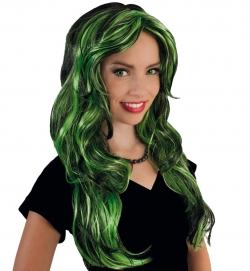 Perücke Funny Star grün