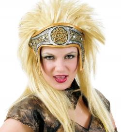Perücke Amazone, mit Stirnband