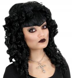 Perücke Gothic schwarz