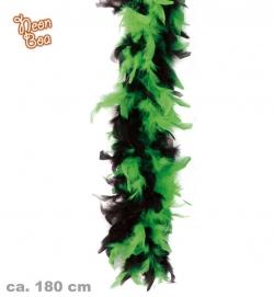 Federboa Neon-Schwarz Farbe grün
