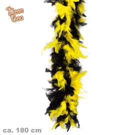 Federboa Neon-Schwarz Farbe gelb