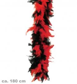 Federboa, 2-farbig schwarz/rot, ca. 1,80 m Länge, ca. 45g