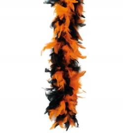 Federboa Neon-Schwarz Farbe orange