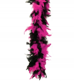Federboa, 2-farbig schwarz/pink, ca. 1,80 m Länge, ca.45g