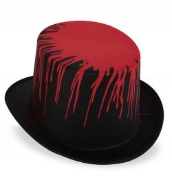 Zylinder Blutoptik Hut Halloween Horror