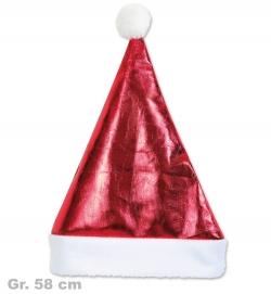 Nikolaus Mütze rot glänzend