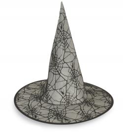 Hexenhut mit Spinnennetz