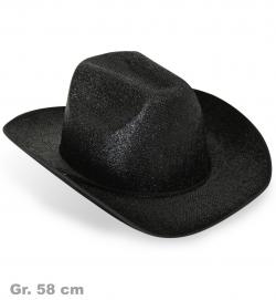 Cowboyhut Glitzereffekt, Gr. 58 cm