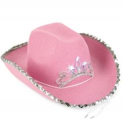Hut Texas Cowgirl, Cowboyhut blinkend, Gr. 58 cm
