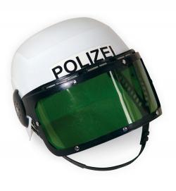 Polizei-Einsatzhelm,  bewegliches Visier, Gr. 58 cm
