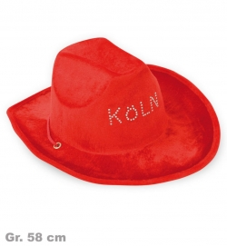 Cowboyhut Köln, rot, Gr. 58 cm