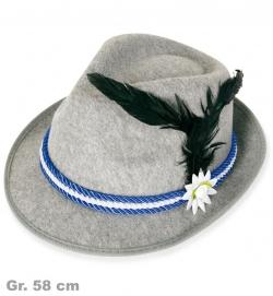 Hut Bayern, Band blau, Gr. 58 cm