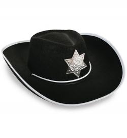 Cowboyhut, schwarz, Gr. 55 cm