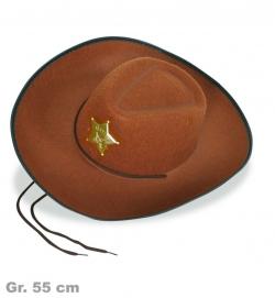 Cowboyhut, braun, Gr. 55 cm