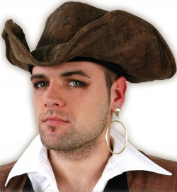 Piratenhut Dreispitzhut braun