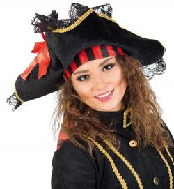Piratenhut mit Spitze und Bandanaoptik, Gr. 58 cm